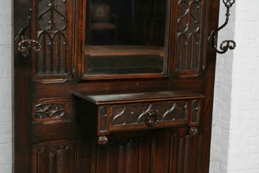 Antique gothic hallstand
