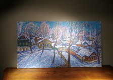 "Painting ""The Village in Winter"""