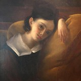 "Antique painting ""Portrait of a young girl"""