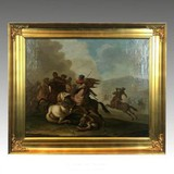 "Antique picture ""Scene of Battle"""