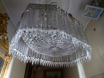 Antique baccarat chandelier art-deco