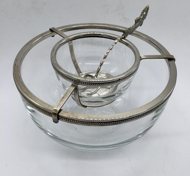 Antique caviar dish