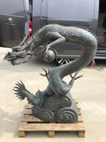 "Antique fountain ""Dragon with a pearl"""