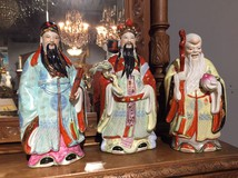 Three Chinese deities