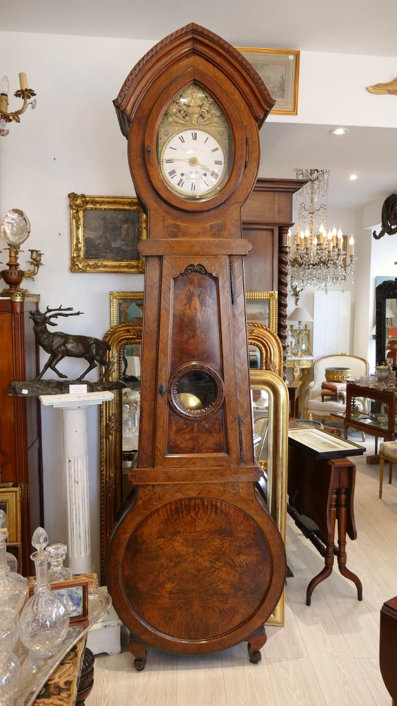 Antique grandfather clock with chimes