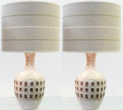 Pair ceramic lamps
