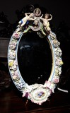 Ancient mirror of Meissen