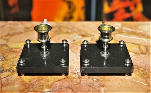 Antique pair candle holders