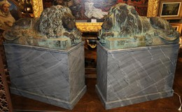 Antique paired sculptures «Lions»