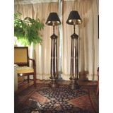 Antique paired floor lamps