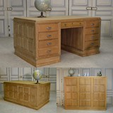 Antique office desk with cabinet