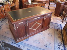 Antique Empire mahogany desk