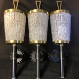 3 antique wall lights