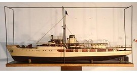 Vintage model of the ship