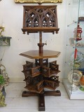 Antique rotating Gothic style bookcase lectern