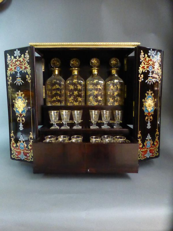 Antique liqueur set Napoleon III