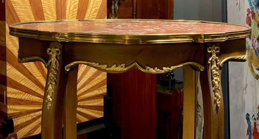 Antique Louis XVI oval table