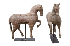 "Paired sculptures ""Oriental horses"""