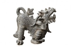 terracotta sculpture of dragon