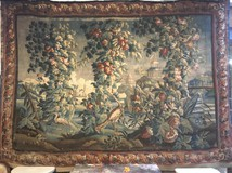 Antique wool and silk tapestry XVIII C.