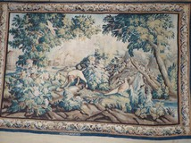 Antique french wool and silk tapestry XVIII C.