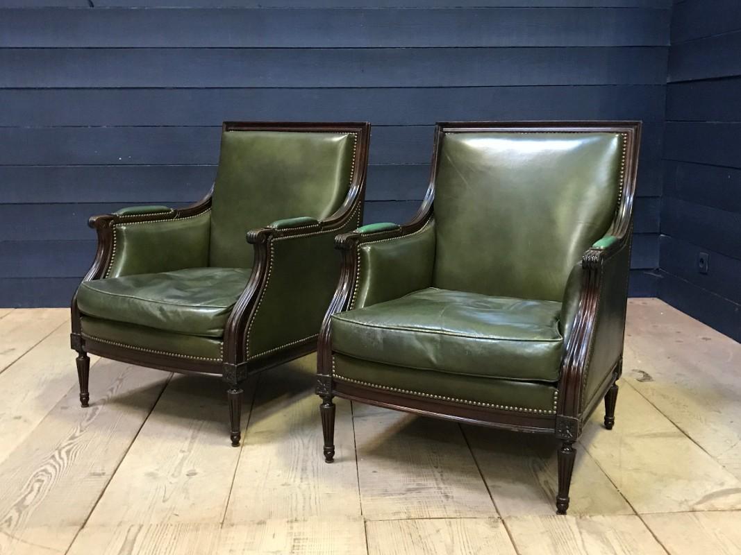 Datsun leather armchair