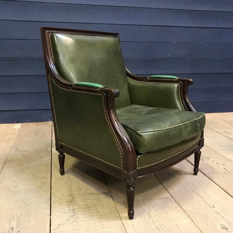 Morris ebony armchair