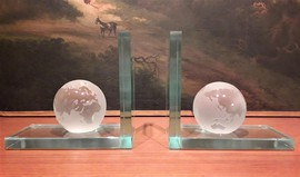 Antique Globe bookends
