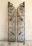 Antique forged gates