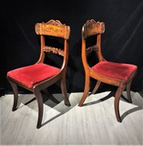Antique twin chairs