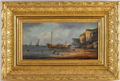 "Antique painting ""Fishermen"""