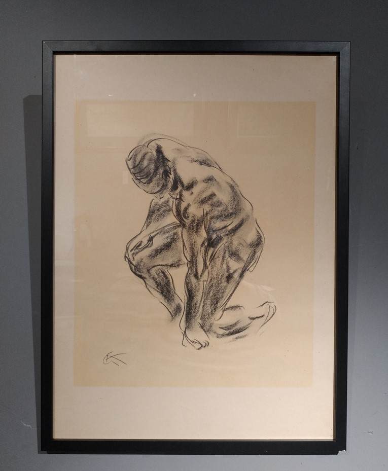 Antique lithography of a nude