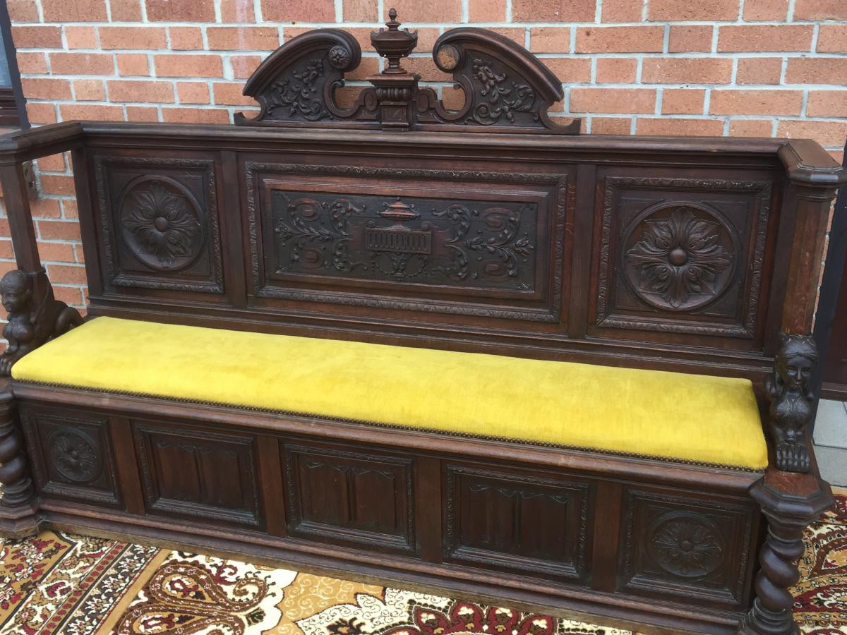antique bench and chest renaissance style