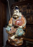 Antique sculpture of Ebisu