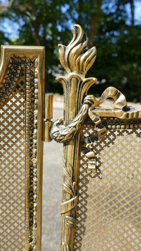 Antique fireplace screen