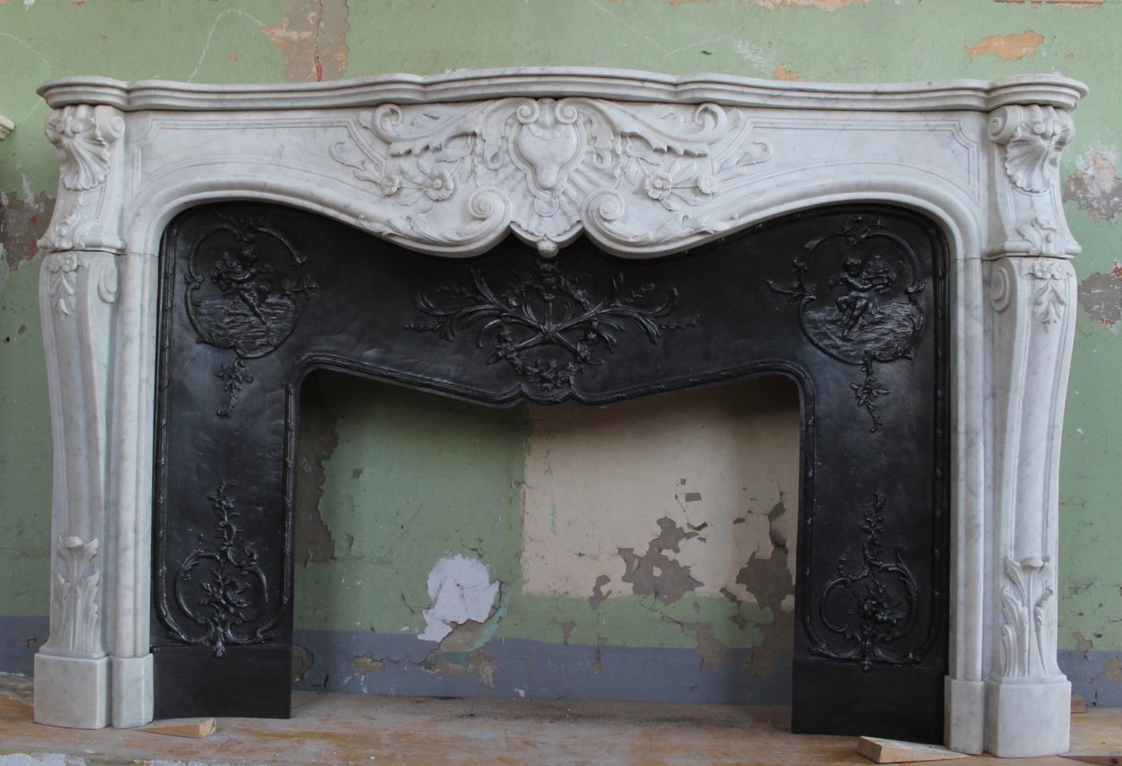 Antique fireplace portal
