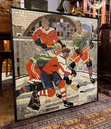 Mosaic the hockey players