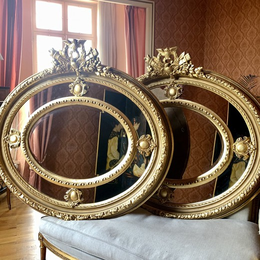 Twin antique mirrors
