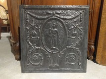 Old cast iron plate