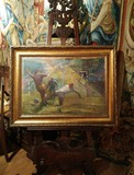 "Antique painting ""Duel"""