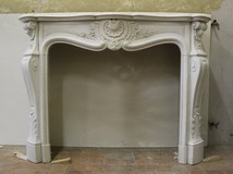 Antique Louis XV style fireplace portal