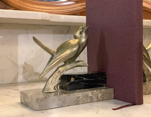 "Antique bookends ""Nightingales"""