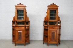 Antique pair Louis XV cabinets