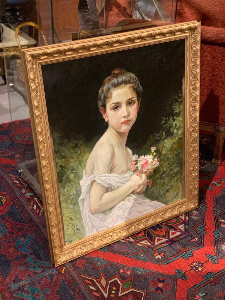 "The painting ""Girl with a Bouquet"""