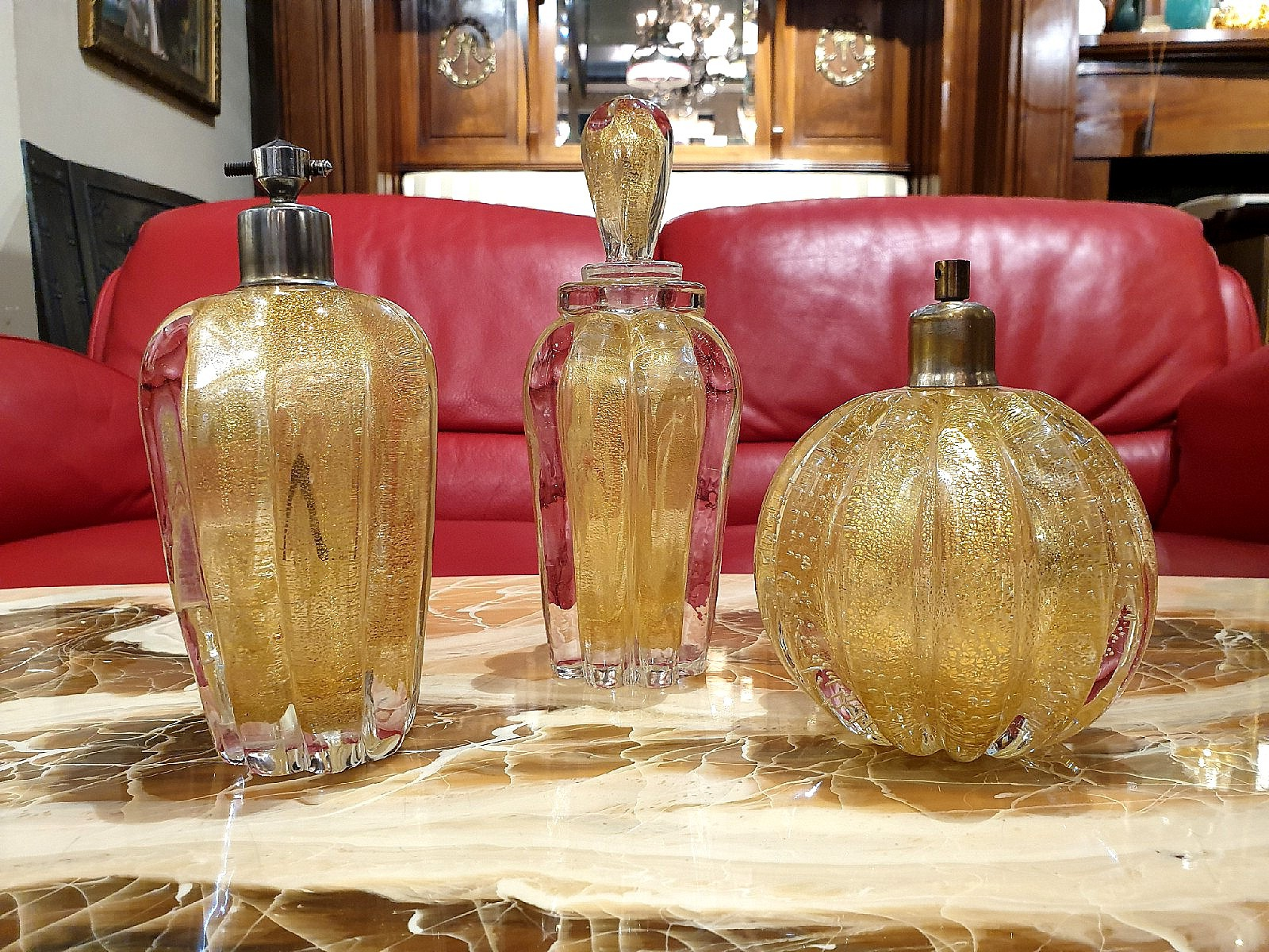 Set of three perfume dispensers