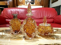 Set of three vintage bottles
