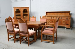Antique Gothic style dining room set