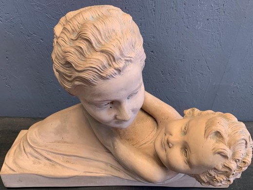 "Antique sculpture ""Mother and Child"""