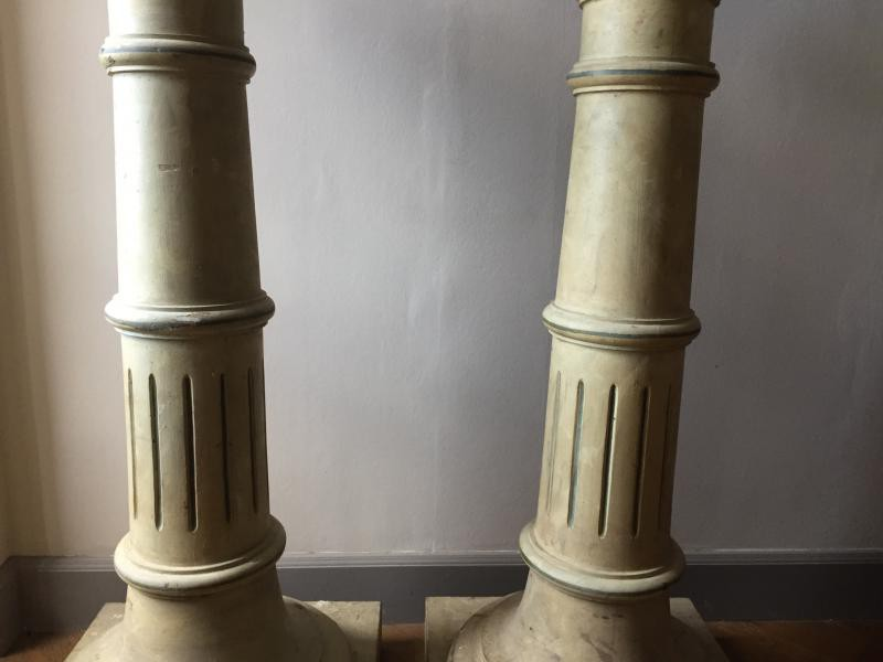Antique paired columns