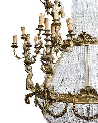 Large antique Louis XV chandelier